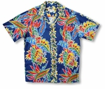 Bird of Paradise Monstera Panel Men's Vintage Shirt