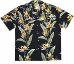 Bird of Paradise Panel rayon aloha shirt