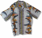 Bird of Paradise Panel Men's Vintage aloha Shirt