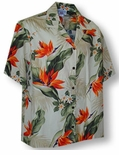Bird of Paradise Plumeria Women's Camp Shirt