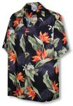 Bird of Paradise Plumeria Men's Shirt