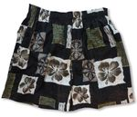 CLOSEOUT Black Hibiscus Uni-Sex Bamboo Boxer Shorts