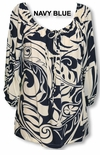 CLOSEOUT Bold Beach Botanic II Womens Peasant Blouse