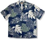 Bold Monstera Garden men's soft peached cotton shirt