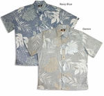 Bold Monstera Garden Men's Reverse Print Aloha Shirt