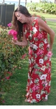 Bougainvillea Button Front Long Tank Dress