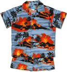Kilauea Big Island Volcano boy's 2pc set