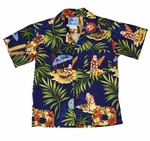 Christmas in Hawaii boys shirt