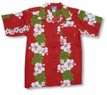 CLOSEOUT Classic Red Panel Boy's Christmas Shirt