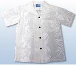 Fern Leaf Garden Boys Wedding White Shirt