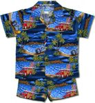 Boy's Hawaiian Yesterdays views cotton cabana