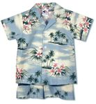 Plumeria Island boy's 2pc set