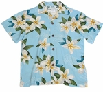 Plumeria Shower Boy's Rayon Aloha Shirt