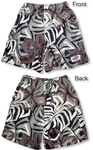 Abstract Hibiscus boy's cargo shorts