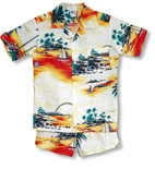 Sunset Sail boy's size 10 cabana set