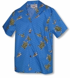 Turtle Swim Boy's Cotton Hawaiian Shirt
