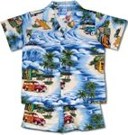 Beach Hale Woodie Surfboard tropical print 2pc Set