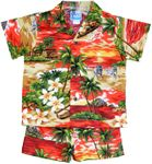 Hawaiian Sunset Vacation boy's cabana set