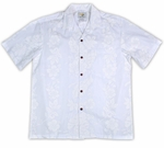 Hibiscus Panel Boy's Wedding White Shirt