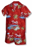 Santas Hawaii Vacation Boy's 2pc Cabana Set