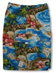 Boys Walking Shorts Hibiscus Hawaiian Island