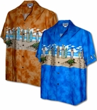 Turtle Beach Crawl 100% Poplin Cotton Hawaiian Shirt