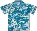 Boys Woodcut Hawaiian aloha shirt