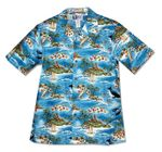 CLOSEOUT Breaching Whales Dolphin Island Men's Shirt