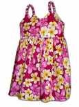 Bright Beautiful Plumeria girl's bungee dress
