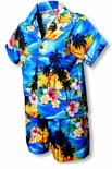 Brilliant Hawaii Sunset Boy's 2pc Cabana Set