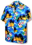Brilliant Hawaiian Island Sunset Men's Shirt
