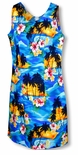 Brilliant Hawaiian Sunset Short Tank Dress
