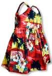 Brilliant Hawaiian Sunset Girl's Bungee Dress