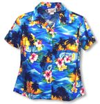Brilliant Hawaiian Sunset Women's Fitted Blouse