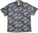 Aina Earth created as a reversed fabric men's cotton shirt print