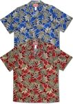 Cascading Leaves men's cotton aloha shirt