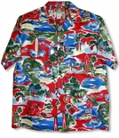 Christmas Hawaii Style Mens Rayon Blend Shirt