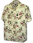 Christmas Ornaments Hawaiian Aloha Cotton Shirt