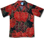 Monstera Christmas Leaf Boys Shirt