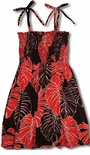 Monstera Christmas Leaf Girls Tube Top Dress