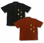 Christmas Ornament Men's Embroidered Shirt
