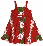 Classic Christmas Red Panel Empire Bow Dress