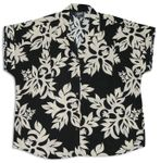 Classic Hawaiian Quilt Womens Cap Sleeve Shirt