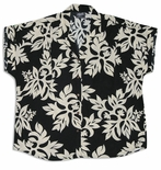 Classic Hawaiian Quilt Women's Cap Sleeve Shirt
