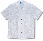 Classic Hibiscus Boys Wedding White aloha shirt