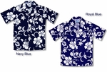 Boys Hawaiian Aloha Classic Hibiscus Cotton Shirt
