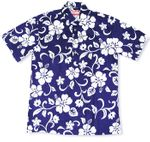 Classic Hibiscus Pull Over Polo Shirt