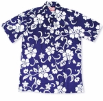Classic Hibiscus Men's Pull Over Polo Cotton Shirt