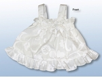 Classic Hibiscus Girl's Wedding White Ruffle 2pc