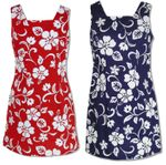 CLOSEOUT Classic Hibiscus Short Tank Dress